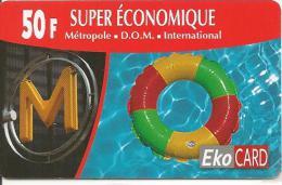 CARTE* PREPAYEE-DOM TOM-EKOCARD-50F-BOUEE-120000Ex-TBE-RARE - Andere Voorafbetaalde Kaarten