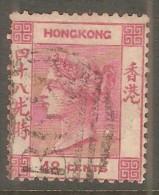 HONG KONG  Scott  # 21 VF USED - Hong Kong (...-1997)