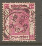 HONG KONG  Scott  # 39  VF USED - Hong Kong (...-1997)