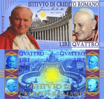 The 4 Popes Banknote - Wojtyła - Giovanni XXIII - Bergoglio - Ratzinger
