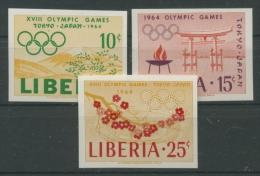 Liberia 1964 Olympiade Tokio 623/25 B Postfrisch (R20353) - Liberia