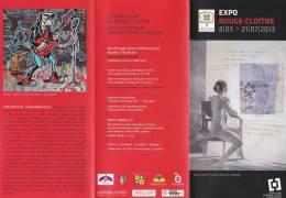 Programme SCHUITEN François Exposition Rouge Cloître 2013 (Berthet, Margerin..) - Livres, BD, Revues