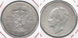 HOLANDA 2 Y MEDIO GULDEN 1938 PLATA SILVER Y - [ 3] 1815-… : Reino De Países Bajos