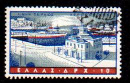 Greece, 1958, Scott #C74, Airmail, Piraeus Harbor, 10dr. Used, NH, VF - Greece