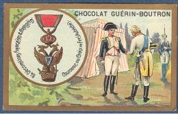 Chromo Chocolat Guerin-Boutron Décorations Françaises Et étrangères Couronne Ou Croix De Fer Autriche Napoléon Ier - Guerin Boutron