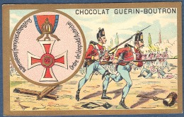 Chromo Chocolat Guerin-Boutron Décorations Françaises Et étrangères Ordre De Léopold Autriche François 1er Marie Thérèse - Guerin Boutron