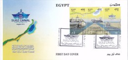 Fdc EGYPT 2014 NEW SUEZ CANAL PROJECT OFFICIAL ISSUE */* - Egypt