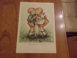 2 BIMBI  CHE SI BACIANO  1948  Illustratore  MARIAPIA - Non Classificati