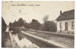 RARE CPA SEUIL, LE CANAL, L´ECLUSE, PETITE ANIMATION, ARDENNES 08 - Sonstige Gemeinden