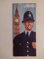 LONDRES , BELLE BROCHURE TOURISTIQUE 1960 - Dépliants Touristiques