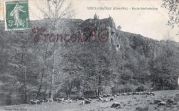 (21) Vieux Château - Roche Sainte Ste Catherine - Berger Et Son Troupeau De Moutons - 2 SCANS - France