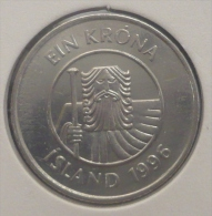 ICELAND-ISLANDA 1 KRONA 1996 PICK KM27a UNC - Islandia