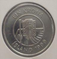 ICELAND-ISLANDA 1 KRONA 1999 PICK KM27a UNC - Islandia