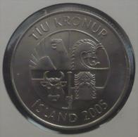 ICELAND-ISLANDA 10 KRONA 2005 PICK KM29.1a AUNC - Islandia