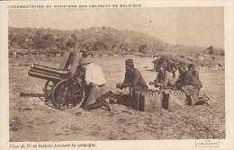 Cpa Ak Pk CONGO BELGE:piece De 70 En Batterie Pendant La Campagne.(Ministère Des Colonies Belges.) - Congo Belga - Altri