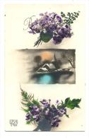 Cp, Fleurs, Bonne Année, écrite 1933 - Flores