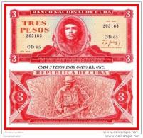 3 PESOS  Sin Circular Uncirculated Scarce  Escaso Banco Nacional 1988 Che. - Cuba