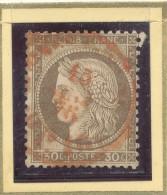 N°56 CACHET A DATE ROUGE. - 1871-1875 Cérès
