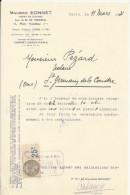 PARIS MAURICE EONNET AGENT DE CHANGE SUCCESSEUR DE M DE VERNEUIL LETTRE ENTETE ANNEE 1931 TIMBRE ET CACHET - France