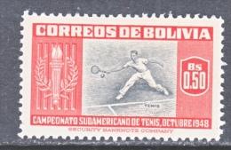 BOLIVIA  353   *   SPORTS TENNIS - Bolivia