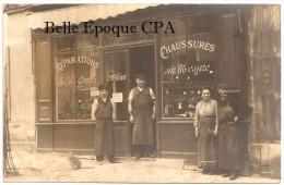 92 - CARTE-PHOTO / ISSY-les-MOULINEAUX - à Localiser - Chaussures PENTECOSTE / Ancienne Maison CLÉMENT +++ 1905 +++ RARE - Issy Les Moulineaux