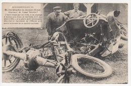 ° 61 ° SAINT CHRISTOPHE LE JAJOLET ° Automobile Brisée Par Un Train En 1920 ° AUTO ° Cloche (voir Scan Du Dos) ° - Autres Communes