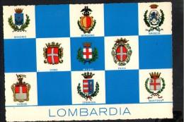 P1652 Cartolina Illustrata Con Gli STEMMI DELLE PRINCIPALI CITTà - LOMBARDIA - ED. GIESSE - CECAMI - Autres Villes