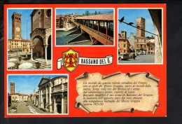 P1661 BASSANO DEL GRAPPA ( Vicenza, Veneto ) Multipla Con Auto Cars Voitures  - Ed. MABER Bas 69 - Not Used - Italia