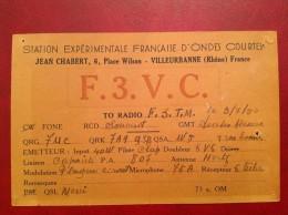 QTH Radio Amateur 69 VILLEURBANNE Chabert Pour Accolas - Villeurbanne