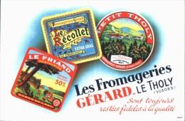 -BUVARD - FROMAGERIE GERARD  état LUXE - Food