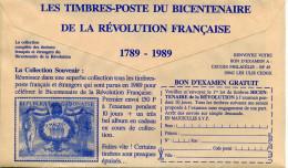 Bicentenaire De La Révolution Française,soldat En Uniforme,timbre De Gabon,CCP,lettre Publicitaire - Franz. Revolution