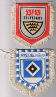 4 FANIONS ALLEMAGNE BAYERN MUNICH - FRANCFORT - HAMBOURG - STUTTGART - Habillement, Souvenirs & Autres