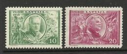 LETTLAND Latvia 1938 Michel 266 - 267 * - Lettonie