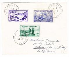 St Pierre Et Miquelon 1939 Brief Nach Ambri-Piotta Schweiz - St.Pierre Et Miquelon