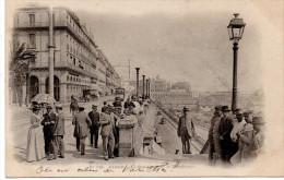 - ALGERIE - CPA PRECURSEUR Ayant Voyagé ALGER 1900 - Le Boulevard De La République (belle Animation) - N° 115 - - Algerien