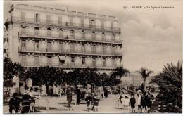 - ALGERIE - CPA écrite ALGER 1907 - Le Square Laferrière (belle Animation) - Collection Idéale P. S. 358 - - Algerien