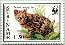 N° Yvert 1358 - Timbres Du Surinam (1995) - MNH - WWF - Leopardus Tigrinus (JS) - Surinam