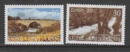 Europa Cept 2001 Cyprus 2v ** Mnh (24970B) Promotion - Europa-CEPT
