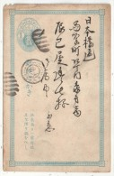 Japon - Entier Postal 1 Sen Bleu - Carte Postale - Cartoline Postali
