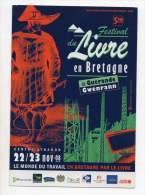 Festival Du Livre En Bretagne De Guérande Gwenrann - 2008 - Publicité
