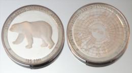 Monnaie Bimétallique Précieuse - Animal Polaire - Ours Polaire - Monnaies