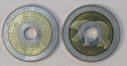 Arctique 10 Dollars 2011 Hole Bimetal Animal Polaire - Monnaies