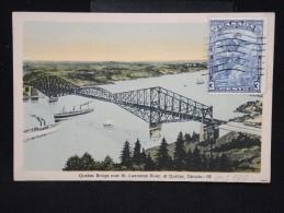 CARTE POSTALE - CANADA - Cp De Quebec En 1934 - à Voir - Lot P9494 - Québec - Les Rivières