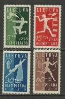LITHUANIA Litauen 1938 Michel 417 - 420 * - Litauen