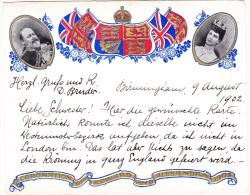 GB Birmingham 9.8.1902 AK Motiv Krönung Edward Und Alexandra 1902 Prägekarte - Angleterre