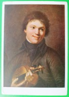 310 Russia A.Varnek. Violinist - Pintura & Cuadros