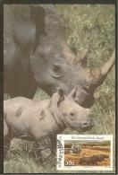 BOPHUTHATSWANA Carte Maximum - Hélicoptère -Rhinocéros - Bophuthatswana