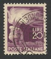 Italy, 20 L. 1945, Sc # 474, Mi # 700, Used - 5. 1944-46 Lieutenance & Umberto II