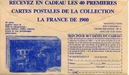 Histoire,La France De 1900,carte Postale,Paris La Station Des Omnibus Sur CCP,lettre Publicitaire De La Poste - Geschichte