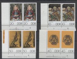 Lot DDR Michel No. 1607 , 1608 , 1611 , 1612 ** postfrisch DV Druckvermerk